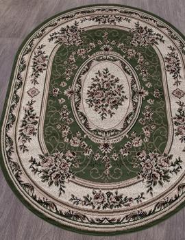 Ковер 5444 - GREEN - Овал - коллекция GAVANA