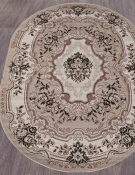 Ковер D017 - BEIGE - Овал - коллекция GAVANA