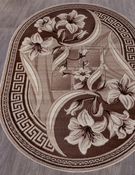 Ковер D187 - BEIGE - Овал - коллекция GAVANA