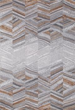 Ковер 33377 - 968 GREY / GOLD - Прямоугольник - коллекция GRANADA