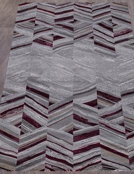 Ковер 33377 - 950 GREY / PURPLE - Прямоугольник - коллекция GRAND