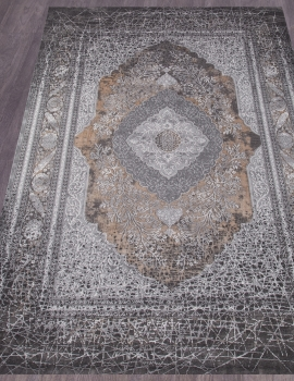 Ковер 34333 - 958 GREY / BROWN - Прямоугольник - коллекция GRAND