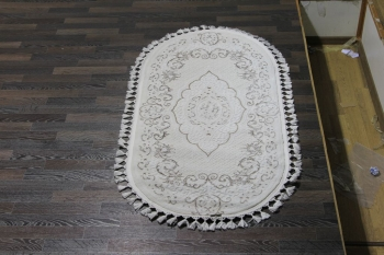 Ковер 07857A - BROWN / WHITE - Овал - коллекция HUNKAR