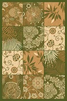 Ковер d271 - GREEN - Прямоугольник - коллекция KAMEA