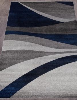 Ковер D811 - GRAY-BLUE - Прямоугольник - коллекция LONDON