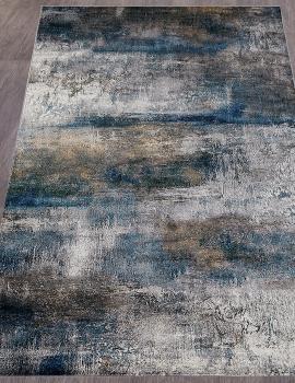 Ковер D821 - GRAY-BLUE - Прямоугольник - коллекция LONDON