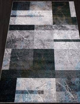 Ковер D828 - GRAY-BLUE - Прямоугольник - коллекция LONDON