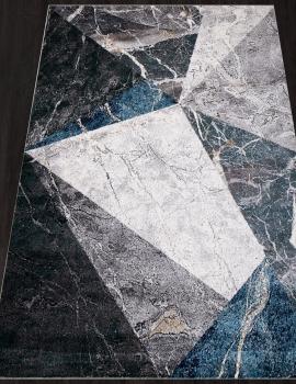 Ковер D829 - GRAY-BLUE - Прямоугольник - коллекция LONDON