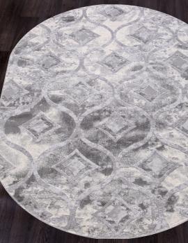 Ковер 5023A - COKEN D.GREY / K.GREY - Овал - коллекция MARDAN