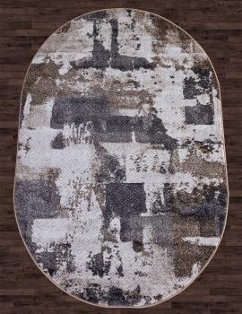 Ковер D564 - CREAM-GRAY - Овал - коллекция MATRIX
