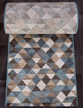 Ковровая дорожка D578 - BEIGE-BLUE - коллекция MATRIX