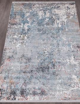 Ковер K405B - L.GRAY / BLUE - Прямоугольник - коллекция MAXELL