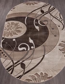 Ковер 4780 - BEIGE - Овал - коллекция MEGA CARVING