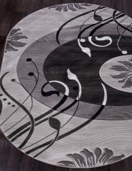 Ковер 4780 - GRAY - Овал - коллекция MEGA CARVING