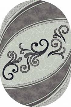 Ковер 4797 - GRAY - Овал - коллекция MEGA CARVING