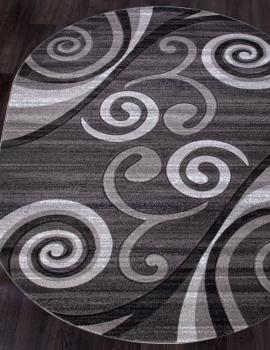 Ковер d263 - GRAY - Овал - коллекция MEGA CARVING