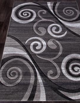 Ковер d263 - GRAY - Прямоугольник - коллекция MEGA CARVING