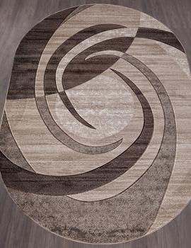 Ковер d264 - BEIGE - Овал - коллекция MEGA CARVING