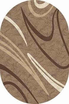 Ковер d265 - BEIGE - Овал - коллекция MEGA CARVING