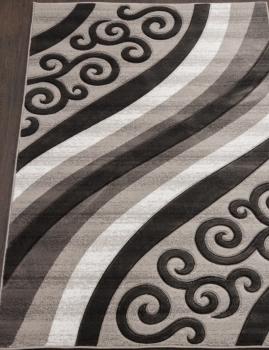 Ковер d297 - GRAY - Прямоугольник - коллекция MEGA CARVING