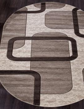 Ковер D465 - BEIGE - Овал - коллекция MEGA CARVING