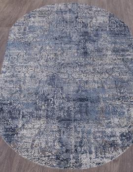 Ковер 0672A - BLUE / GREY - Овал - коллекция OPERA