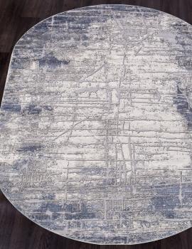 Ковер 5801A - BLUE - Овал - коллекция OPERA