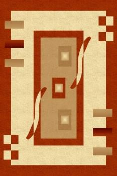 287 - CREAM / RED