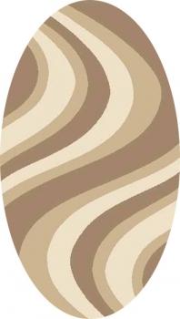Ковер t617 - DARK BEIGE - Овал - коллекция PLATINUM