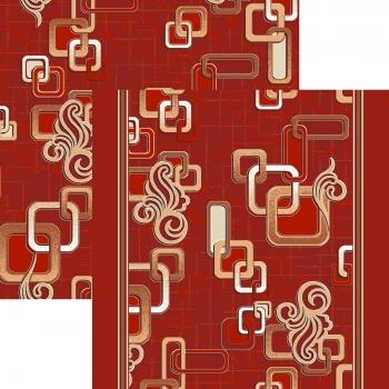 Ковровая дорожка p1594c4p - 45 - коллекция принт 8-ми цветное полотно