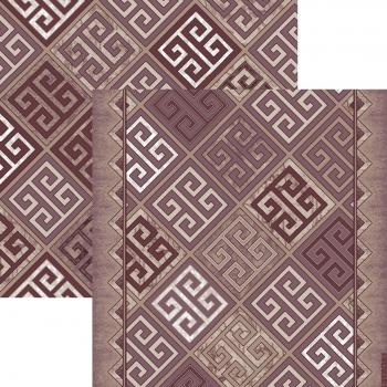 Ковер p1698a6p - 93 - Прямоугольник - коллекция принт обр 8-ми цветное полотно