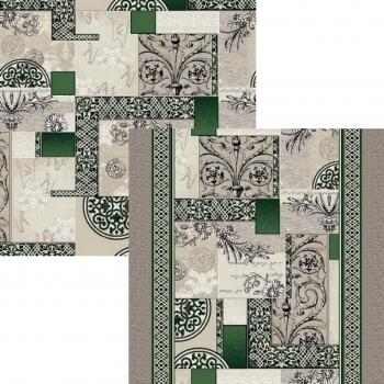 Ковер p1747b2p - 206 - Прямоугольник - коллекция принт обр 8-ми цветное полотно