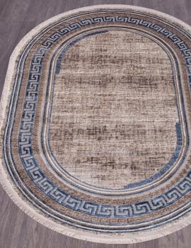 Ковер O0274 - 030 BLUE - Овал - коллекция REGINA