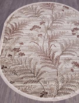 Ковер O0284 - 080 BROWN - Овал - коллекция REGINA