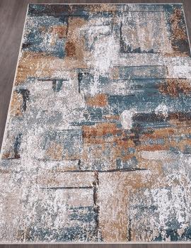 Ковер D864 - CREAM-BLUE - Прямоугольник - коллекция RICHMOND