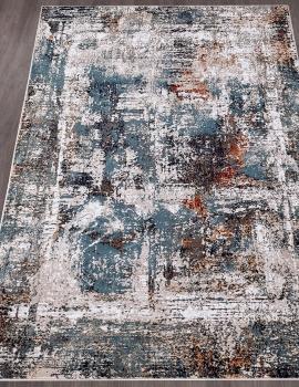 Ковер D865 - CREAM-BLUE - Прямоугольник - коллекция RICHMOND