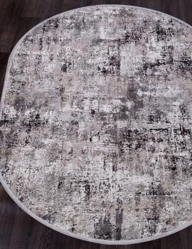 Ковер 17105 - L.GREY / D.GREY - Овал - коллекция ROXANNE