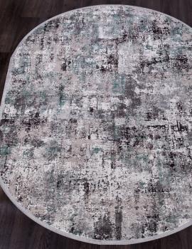 Ковер 17134 - L.GREY / D.GREY - Овал - коллекция ROXANNE