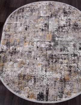 Ковер 17162 - L.GREY / D.GREY - Овал - коллекция ROXANNE