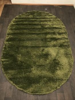 Ковер s600 - GREEN 2 - Овал - коллекция SHAGGY ULTRA