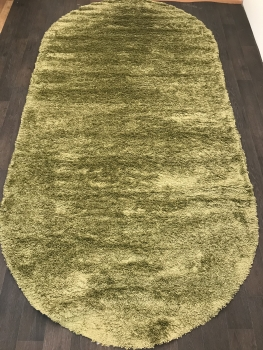Ковер s600 - LIGHT GREEN 2 - Овал - коллекция SHAGGY ULTRA