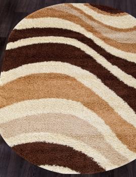 Ковер s607 - BEIGE-BROWN - Овал - коллекция SHAGGY ULTRA