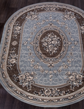 Ковер 5444 - BLUE-BROWN - Овал - коллекция SIERRA