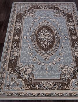 Ковер 5444 - BLUE-BROWN - Прямоугольник - коллекция SIERRA