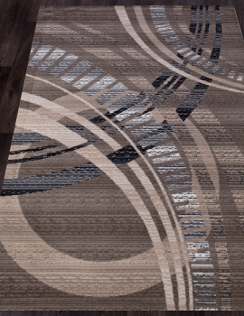 Ковер D284 - BEIGE-BROWN 2 - Прямоугольник - коллекция SIERRA