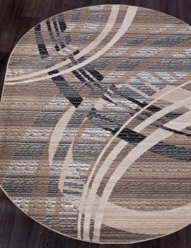 Ковер D284 - BEIGE-BROWN - Овал - коллекция SIERRA