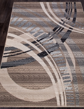 Ковер D284 - BEIGE-BROWN - Прямоугольник - коллекция SIERRA