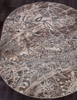 Ковер D354 - BEIGE-BROWN - Овал - коллекция SIERRA