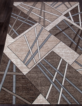 Ковер D487 - BEIGE-BROWN 2 - Прямоугольник - коллекция SIERRA