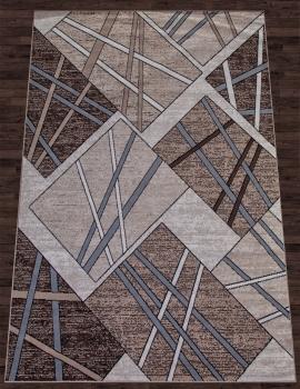 Ковер D487 - BROWN-BLUE - Прямоугольник - коллекция SIERRA